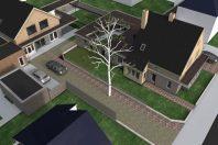 Verbouwing, van winkel met woning naar 2 woningen, Beneden-Leeuwen